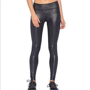 Beyond Yoga Black Foil Full Length Shimmer Legging